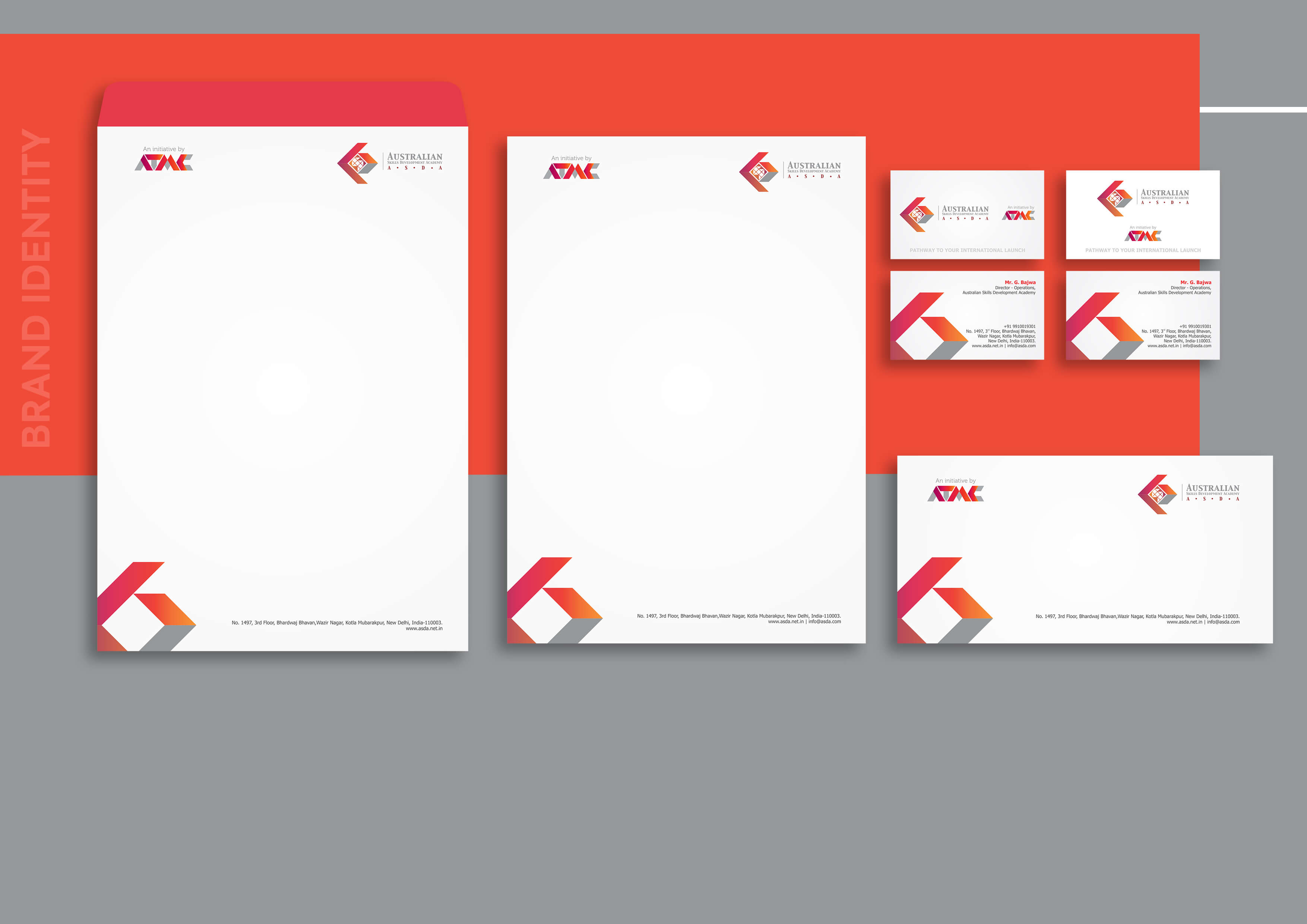 ATMC, Australian Technical & Management College, brand collateral, brands visual, hue