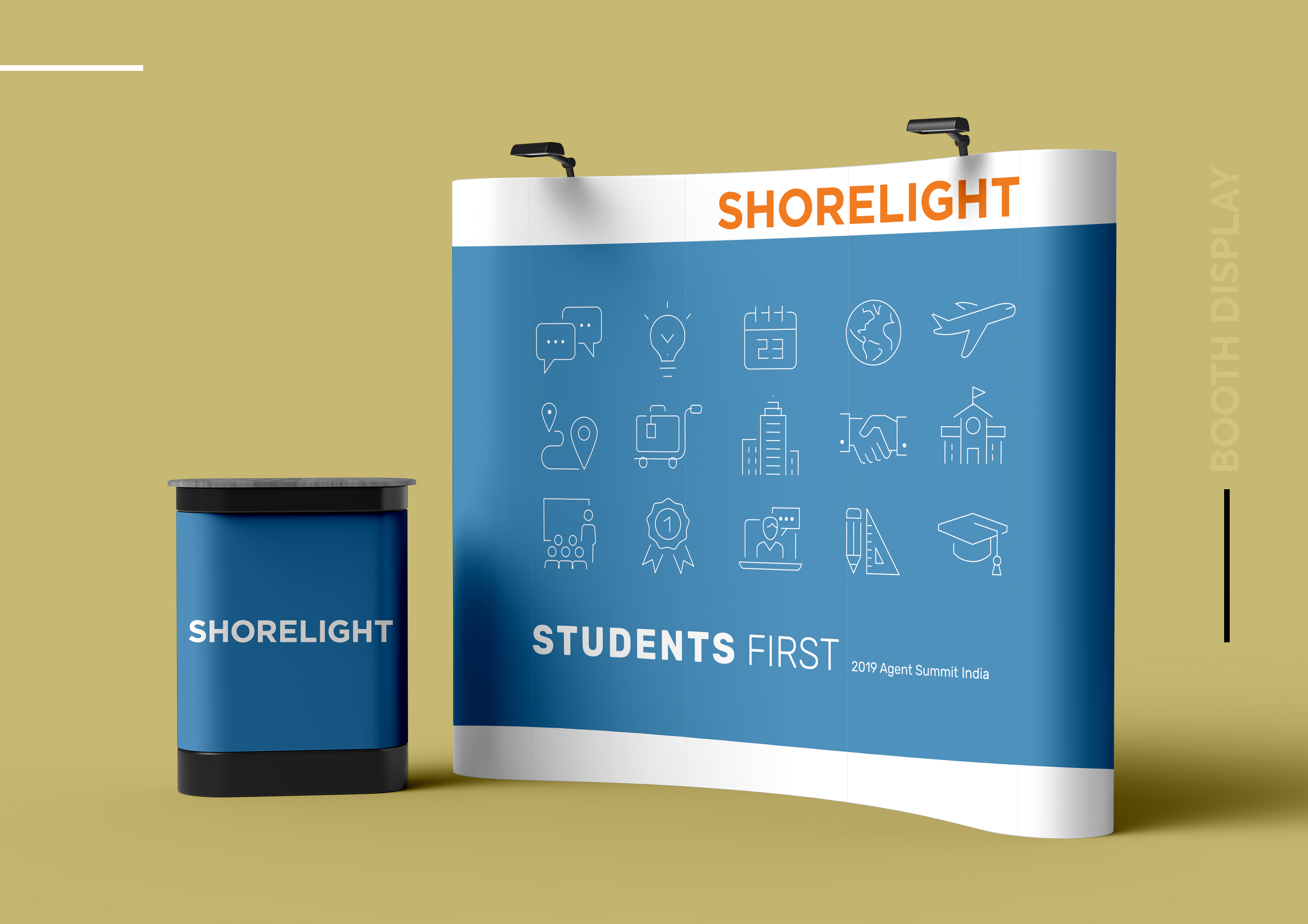 Shorelight, Booth Display, Fair ,Displays,Studio,Hue Portfolio