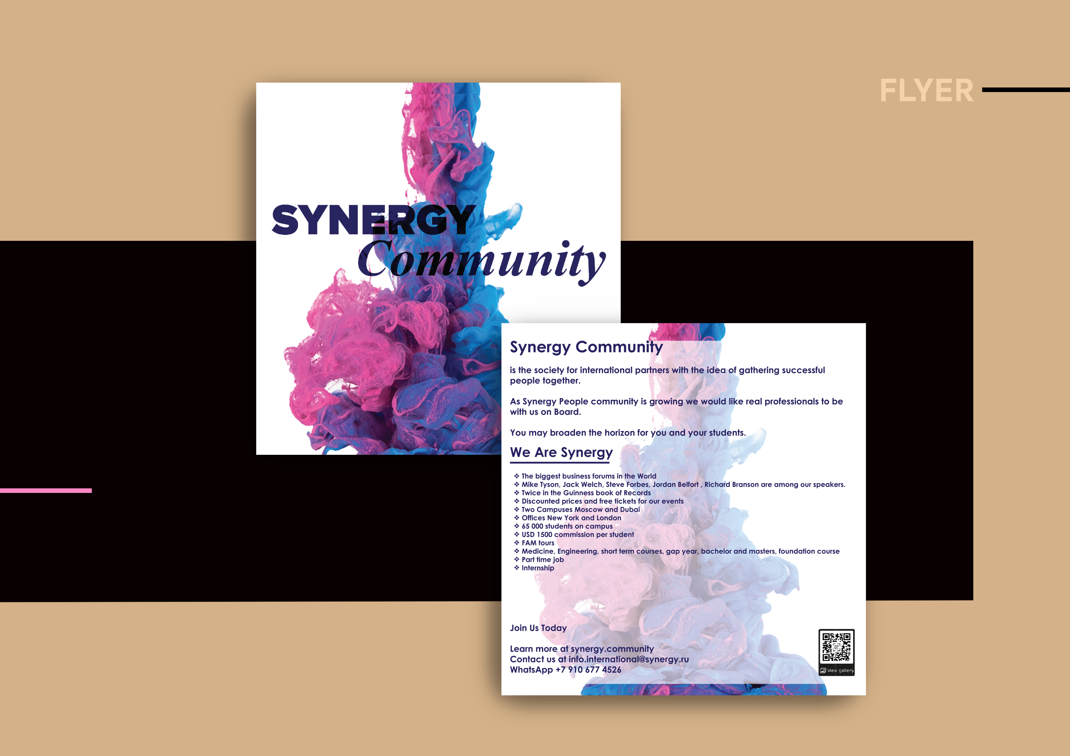 Synergy university, flyer, Hue, printing, cost-effective
