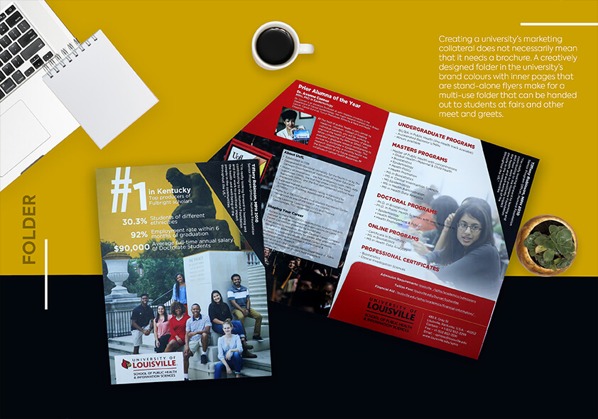 University of Louisville, folder, design, printing, overseas printing,
