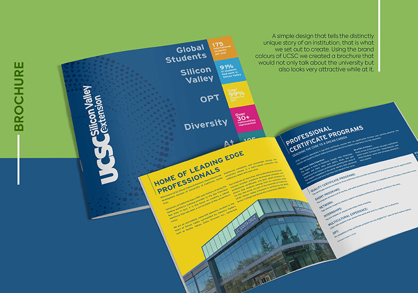 university of california, ucsc, simple design, brochure