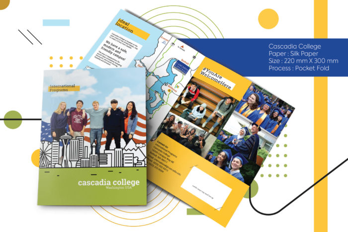 Cascadia College, printing, cost effective, brohure printing, global shipping