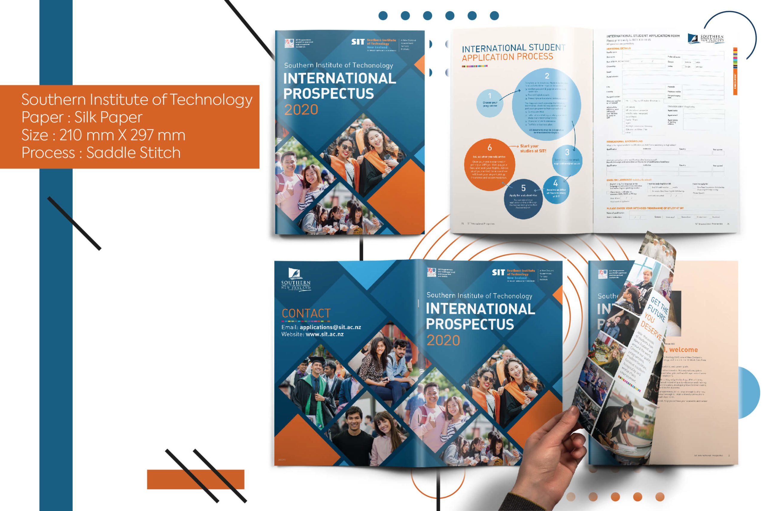 Southern institute of Technology,New Zealand, printing, brochure, global shipping,