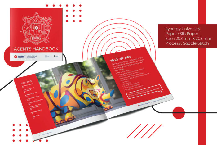 Synergy university, agent book, printing, designing, global shipping